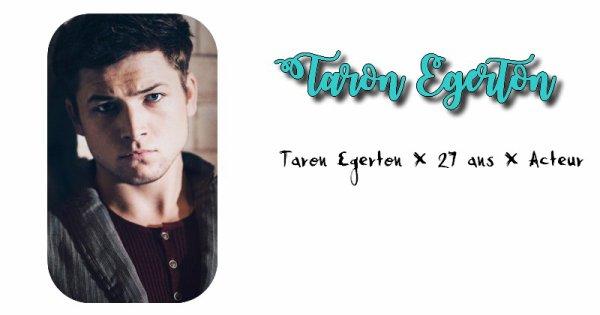 Taron Egerton.