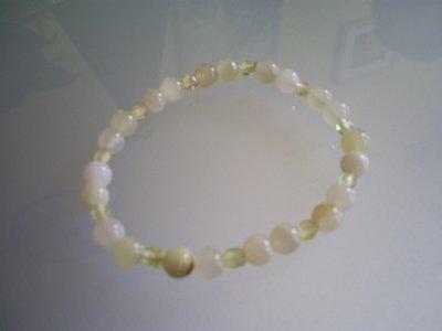 Perles en jade ; et perles jaunes en Cristal de Bohème !