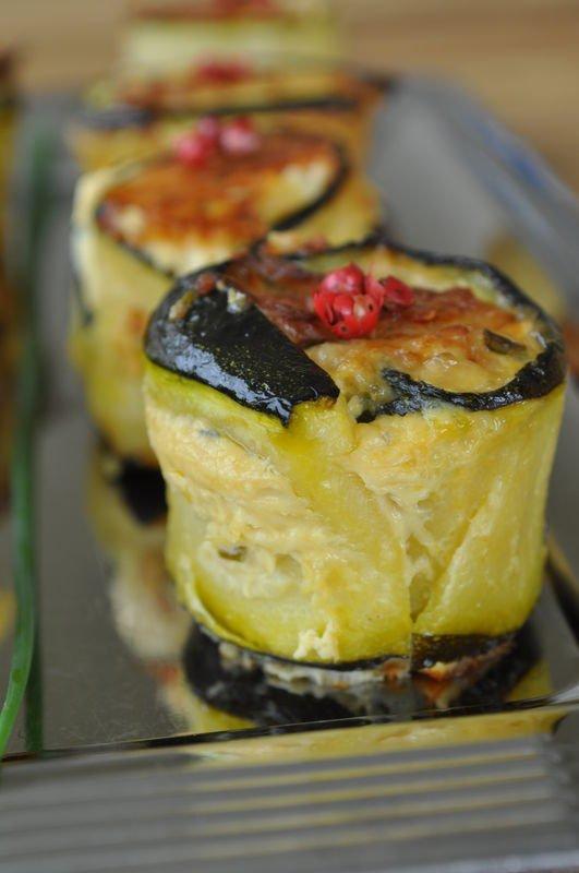 mini bouchés de courgette au thon