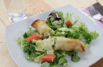 nems de courgette coraya et saumon