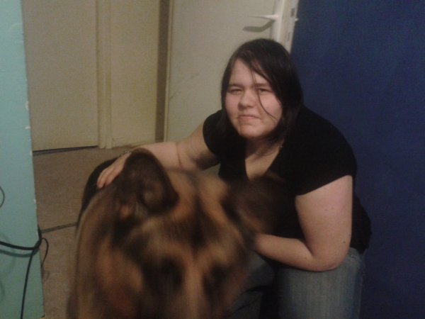 ma blonde , mon chien et moi