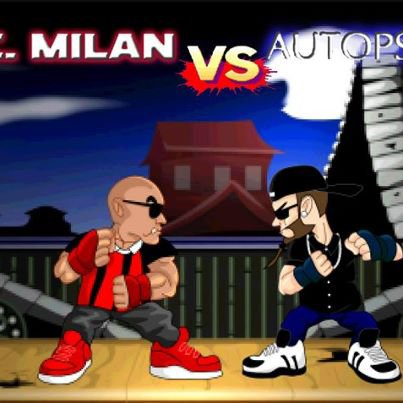 # AC MILAN VS AUTOPSIE 5 #  Version Chapokane animation !!!