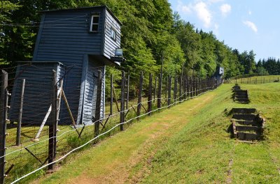 Le camp nazi du Struthof.