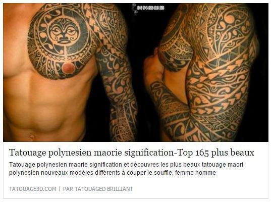 165 plus beaux tatouage polynésien