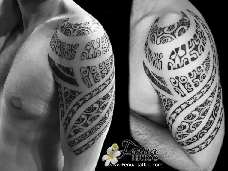 tatouage polynésien maorie tribal