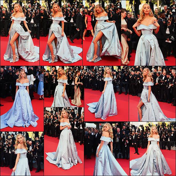 24/05/17 - Dans la soirée, Elsa Hosk était présente à l'avant première du film Les proies à  Cannes, FR. Premier vrai tapis rouge pour Elsa, par contre la robe me fait penser à Dinsey... pas sur que ça plaise à tout le monde? Pour ma part, bof