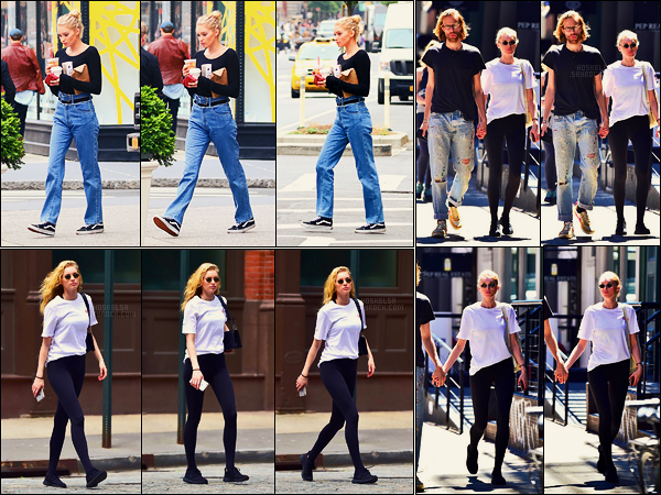 16/06/17 - En cette journée, Elsa Hosk a été aperçue boisson glacée à la main dans les rues de New York. Le 19/06, elle sortait de son cours de gym habituel à NY, le lendemain elle se baladait avec son petit ami Tom, encore dans New York!