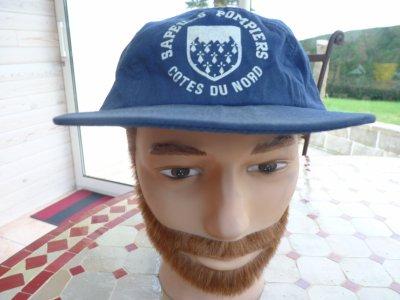 ancienne casquette des pompiers cotes du nord