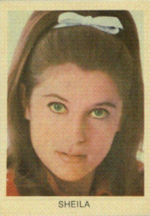 Rare carte postale Sheila