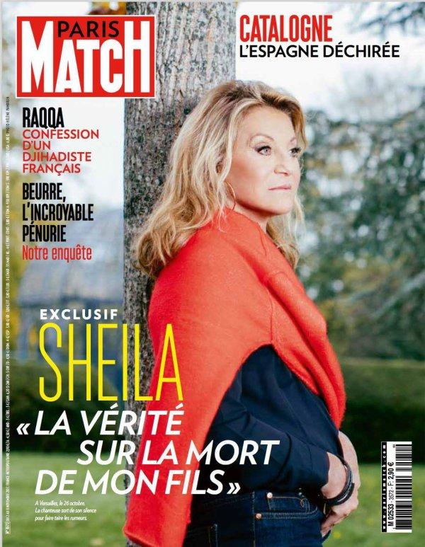 Paris Match, Sheila s'exprime pour la première fois