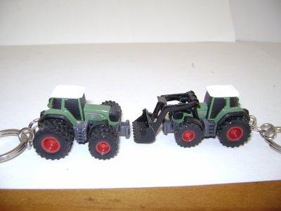 porte clé tracteur fendt jumeller et avec un chargeur