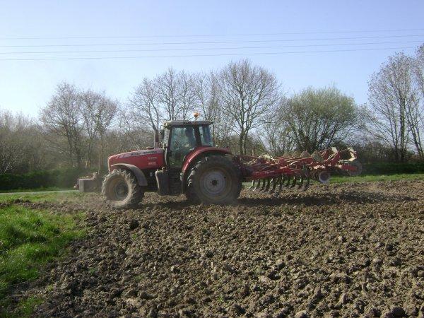 quelque chantier de préparation de terre semis de mais