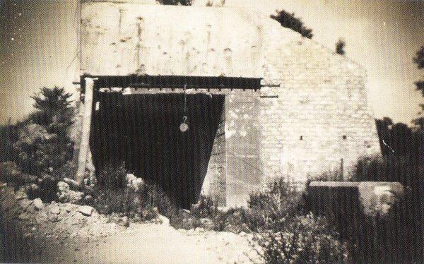 Un des tunnels ferroviaire blindés qui entre dans la carrière souterraine et accède a une des gares souterraines Allemande en 1945