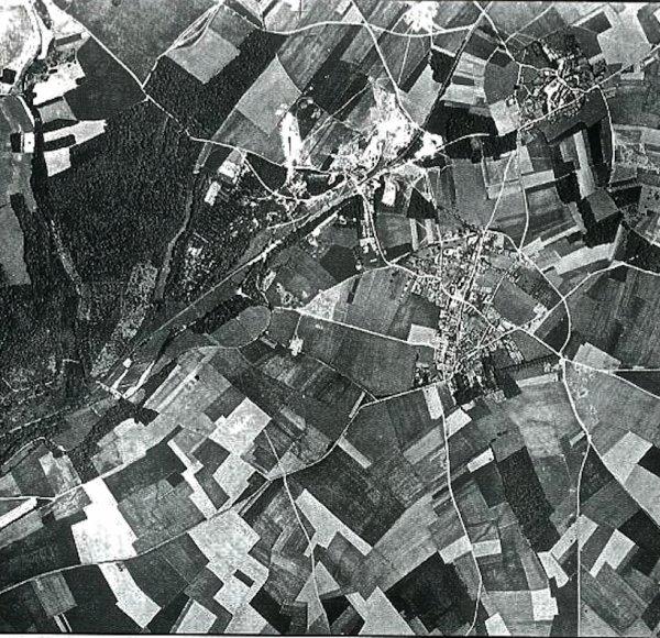 Repérage alliée de Nucourt avant les bombardements 1944