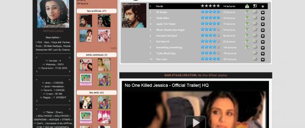 Présentation de RaniPyaarCreation - Géré par Fatii - Existe depuis le 17/02/10 - 27 Articles - Blog sur Bollywood