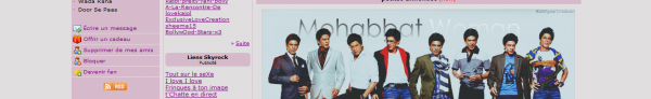 Présentation de Mohabbat-Woman - Géré par Ju - Existe depuis le 12/09/10 - 9 Articles - Blog sur Bollywood