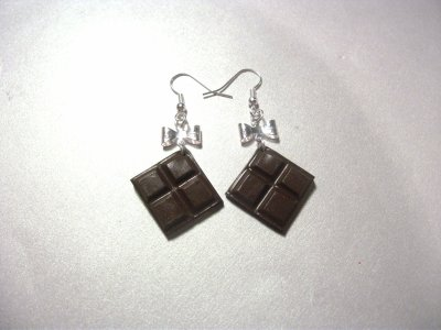 Boucles d'oreille Chocolat