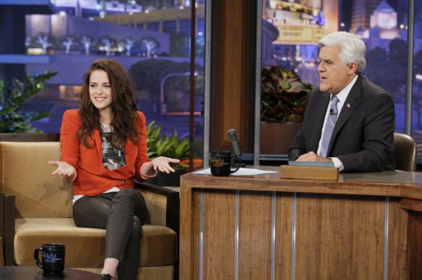 Kristen with Jay Leno
