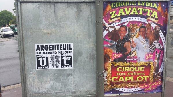 Le cirque Lydia zavatta à Argenteuil (95) du mercredi 11 mai au mercredi 1er juin 2016 (Affichage)