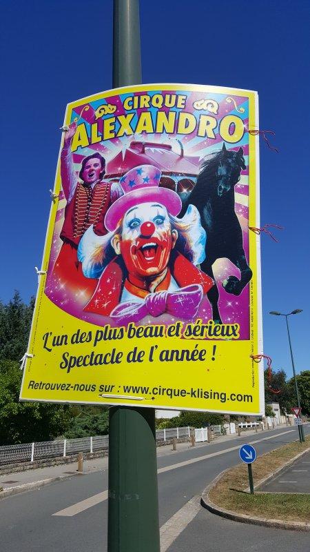 Le cirque Alexandro à Ploubalay (22) le samedi 6 et dimanche 7 août 2016 (Présentation)