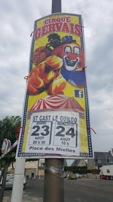 Le cirque Gervais à Saint-Cast Le Guildo (22) du mardi 23 au mercredi 24 août 2016 (Présentation)