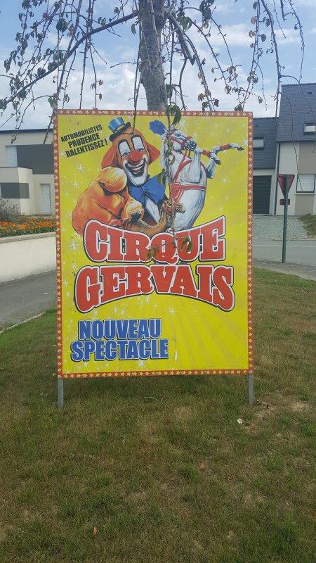Le cirque Gervais à Ploubalay (22) du dimanche 28 au mardi 30 août 2016 (Affichage)