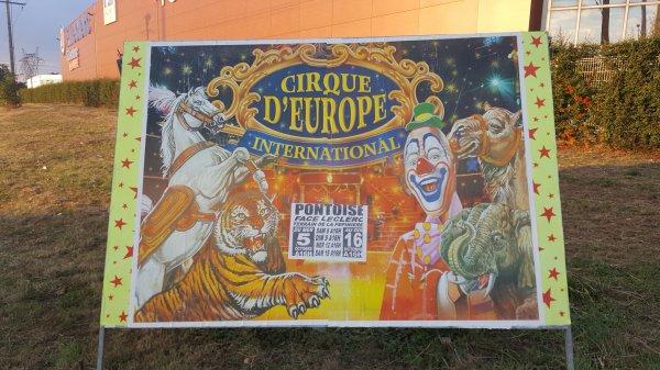 Le cirque Europa à Pontoise (95) du mercredi 5 au dimanche 16 octobre 2016 (Affichage)