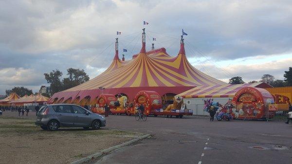 Le cirque Pinder à Paris 12ème (75) du 4 novembre au 22 janvier 2016 (Le chapiteau)