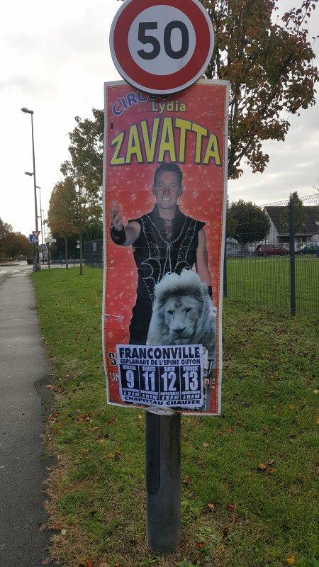 Le cirque Lydia Zavatta à Franconville (95) du mercredi 9 au dimanche 13 novembre 2016 (Affichage)