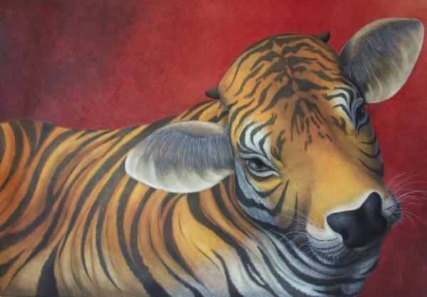 vache tigrée