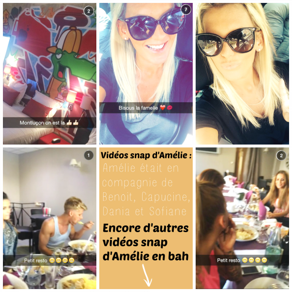 Article 170.   Plusieurs photos/vidéos Twitter et snapchat d'Amélie + Bientôt une interview d'Amélie pour Oops.