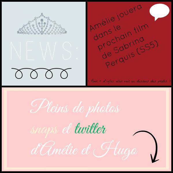Article 171.      13/09/14 - Amélie était au Tempo avec Raphael (IDV4) et Antoni (Le mag) + Des photos/vidéos Twitter et Snapchat  + Une nouvelle sur Amélie.