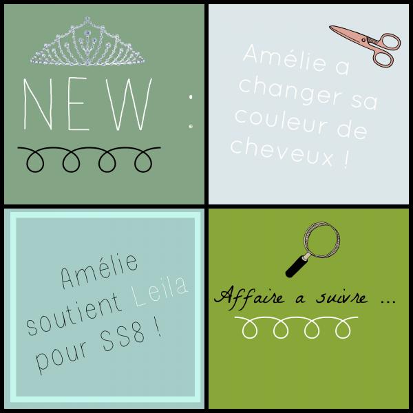 Article 172.   Amélie a changer de coupes et de couleur de cheveux + les comptes officiels des réseaux sociaux d'Amélie + Plusieurs photos/vidéos Twitter et Snapchat