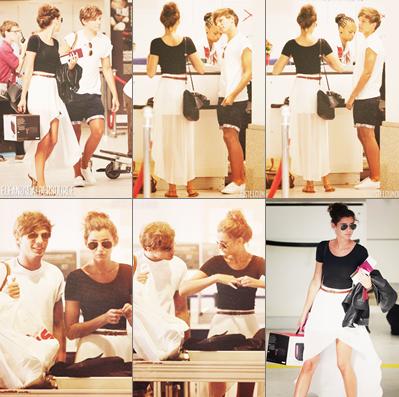 10/07/12 :Louanor (Eleanor et Louis) dans l'Aéroport de Nice  .