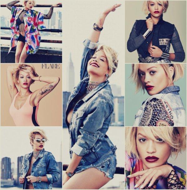 Photoshoot de Rita Ora pour le Magazine Flare