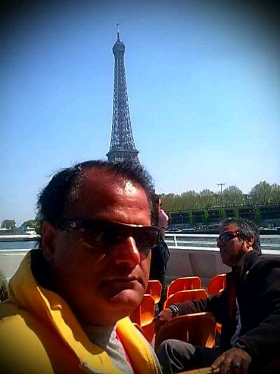 JAMAL TAKKKO AND AGHA HASSAN SYED AT SHIP CRUISE PARIS FRANCE