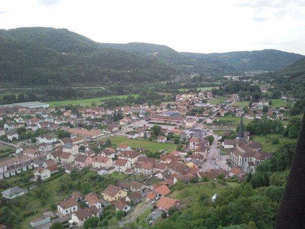 Vue panoramique de RUPT sur Moselle