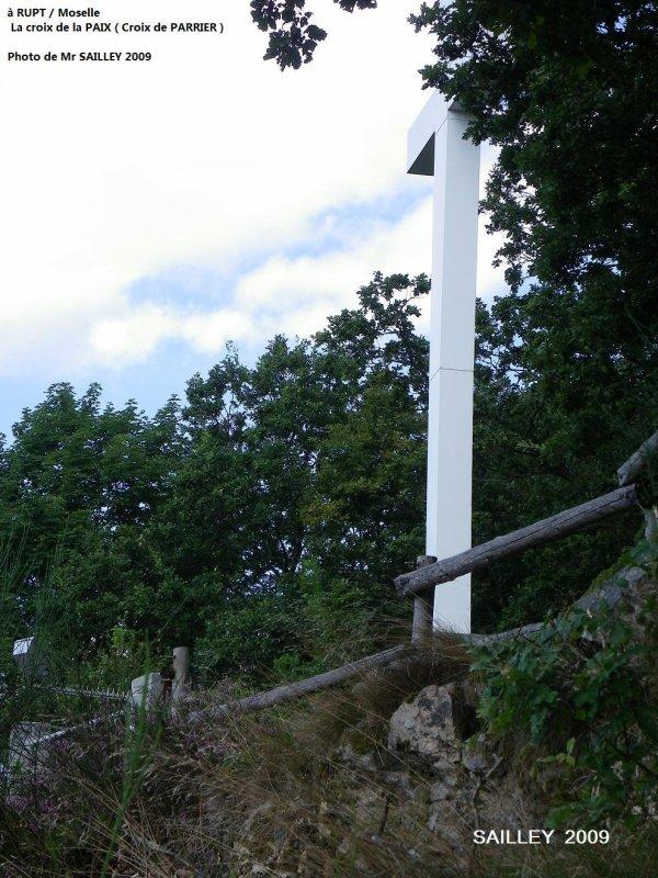 La croix de la paix de rupt sur moselle
