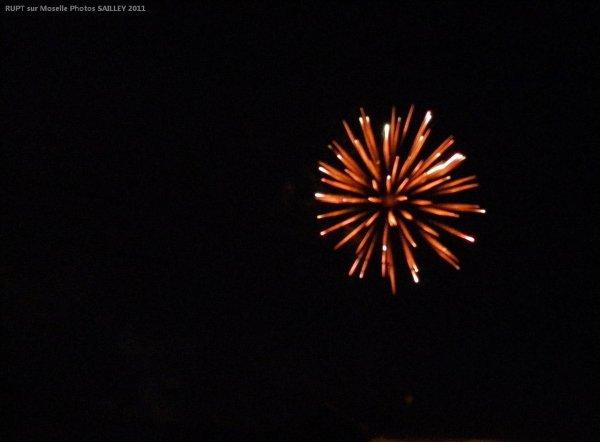 Tire des feux d'artifices du 14 Juillet à RUPT / moselle ce samedi 23