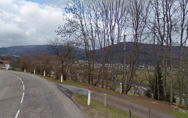 Les dessus de RUPT sur moselle  ( route du mont de FOURCHE )