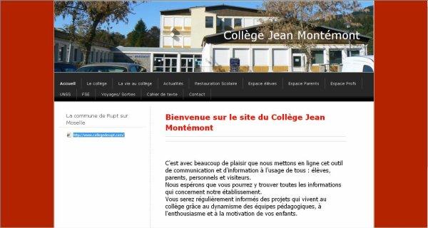 Le site du collège de RUPT / moselle