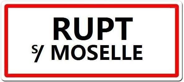 Panneau de l'agglomeration de RUPT sur moselle