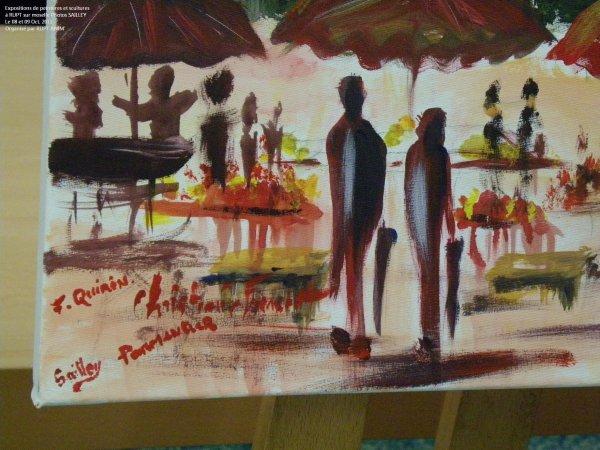 Réalisation d'une toile collectif en public