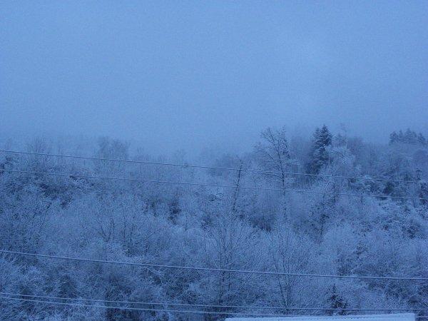 La neige du jour à Rupt sur moselle