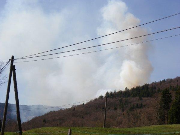 Incendie ce dimanche 01 avril  2012 à  Rupt-sur-Moselle