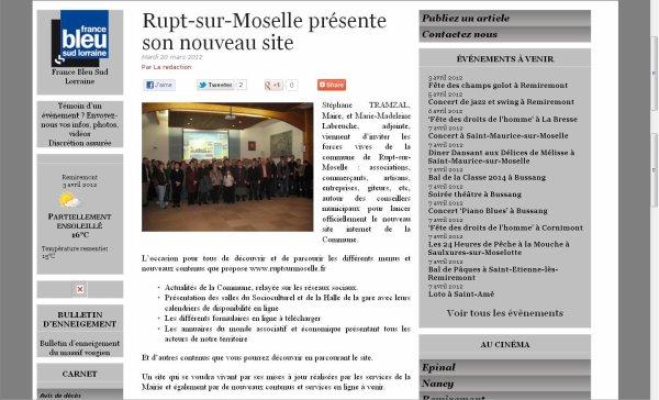 NOUVEAU SITE DE RUPT SUR MOSELLE