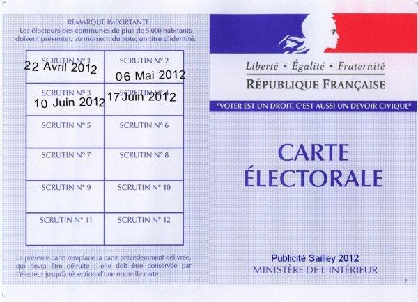 Dates des Élections législatives 2012
