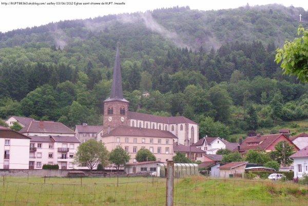 L'église saint étienne de rupt sur moselle
