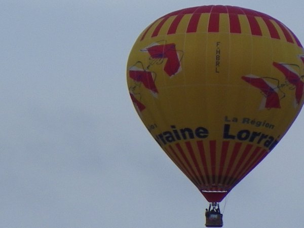 Zoom sur une montgolfière