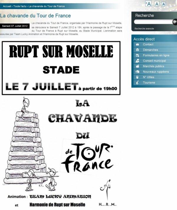 La chavande  du TOUR de FRANCE à RUPT sur moselle